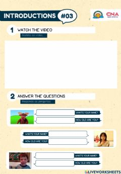 Interactive worksheet Introductions 3