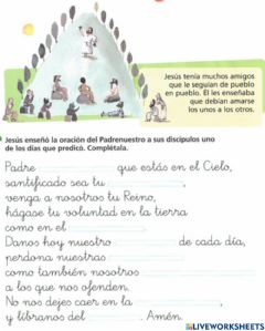 Interactive worksheet Padrenuestro