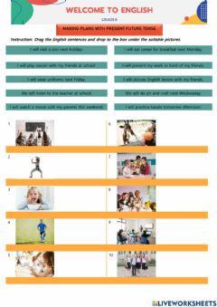 Interactive worksheet Making Plans with Future Tense
