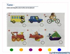 Interactive worksheet Listen and color!