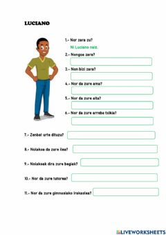 Interactive worksheet Luciano