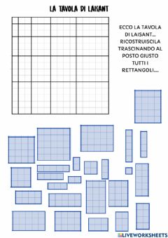 Interactive worksheet Tavola di Laisant