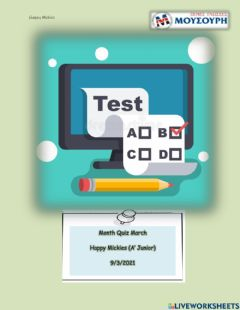 Interactive worksheet Happy Mickies March test