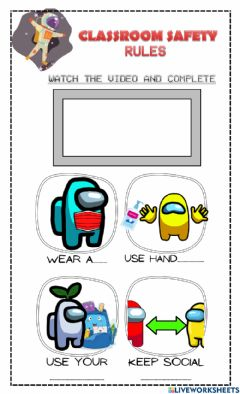 Interactive worksheet Classroom safety rules