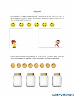 Interactive worksheet Repartir 1