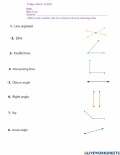Interactive worksheet Angles and lines