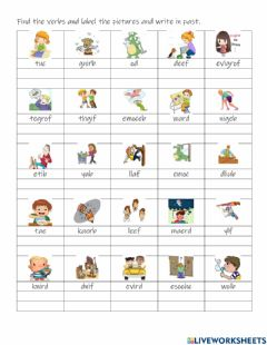 Interactive worksheet Find the correct verb