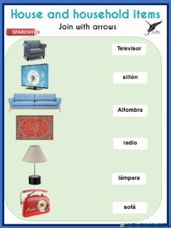 Interactive worksheet House and household items