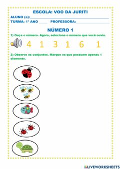 Interactive worksheet Número 1