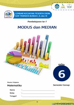 Interactive worksheet LKPD Modus dan Median