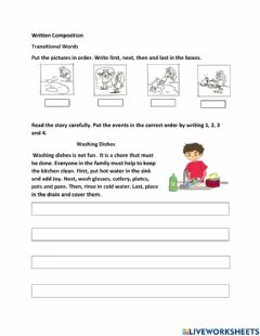 Interactive worksheet Transitional Words