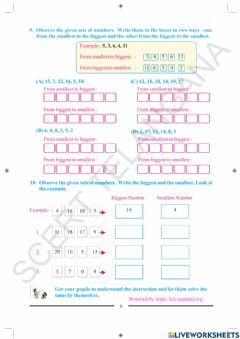 Ficha interactiva 2nd-class-maths-Page-6-ascending-descending-smallest-biggest-number