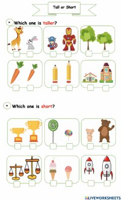 Interactive worksheet Toll and short