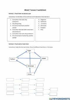 Interactive worksheet KHS Biology Week 7 Lesson 3 Worksheet