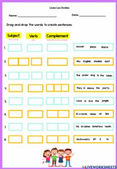 Interactive worksheet Sentence Structure