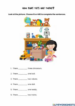 Interactive worksheet There is & There are toys