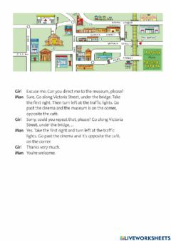 Interactive worksheet Ask for and give directions