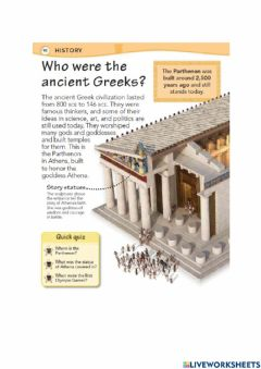 Interactive worksheet Ancient Greek History