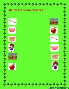 Interactive worksheet Match the same pictures