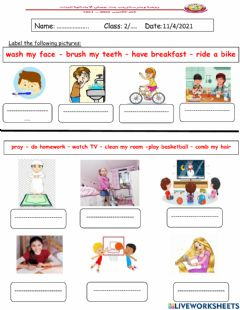 Interactive worksheet Label the pictures