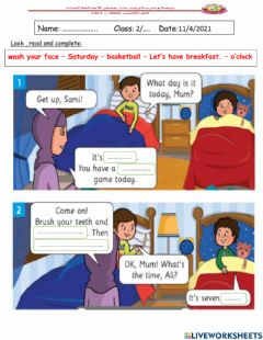 Interactive worksheet Read and choose the correct sentence