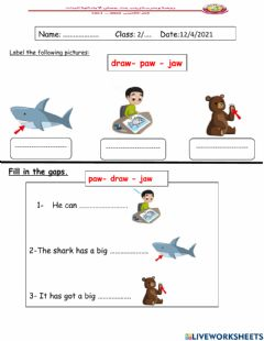 Interactive worksheet Look at the pictures and choose the correct answer