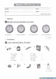 Interactive worksheet FAIRYLAND - Test 6 (Units 11 and 12)