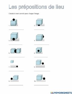 Interactive worksheet French prepositions
