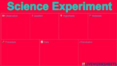 Interactive worksheet 4th A - SCIENCE Experiment