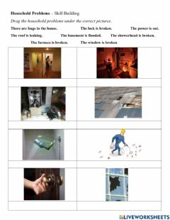 Interactive worksheet Household problems