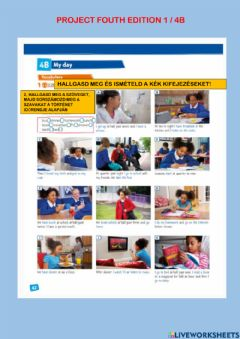Interactive worksheet Project fouth edition 1 - 4 b