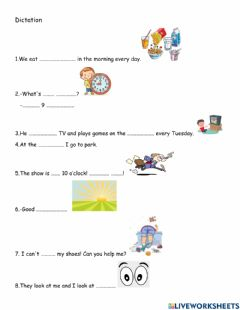 Interactive worksheet Dictation lesson 27 Jet A Junior