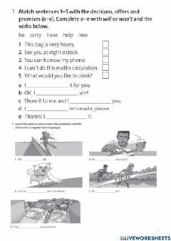 Interactive worksheet Will - going to