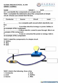 Interactive worksheet Components of circuit