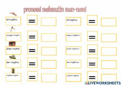 Interactive worksheet Pronomi mehmużin man-nomi