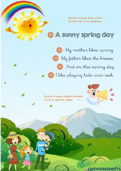 Ficha interactiva Poem: A sunny spring day
