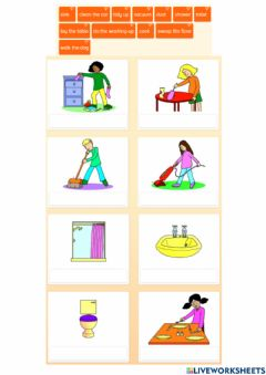 Interactive worksheet Game of chores