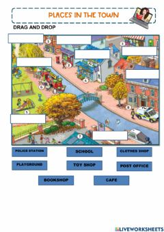 Interactive worksheet Places in the town