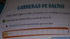 Interactive worksheet Carrera de saltos