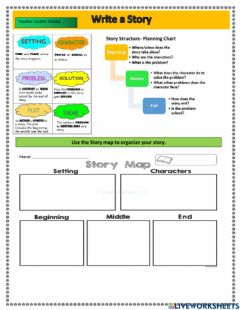 Interactive worksheet Write a story using the tenses