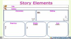 Interactive worksheet Story elements little red riding hood