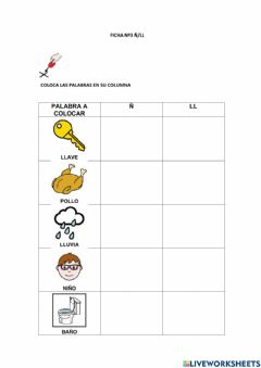 Interactive worksheet Ficha Ñ LL 3