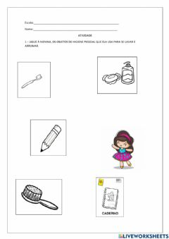 Interactive worksheet Higiene
