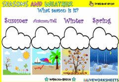Interactive worksheet Seasons and Weather