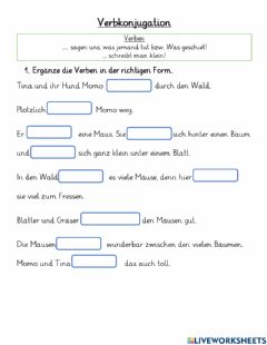 Interactive worksheet Verbkonjugation