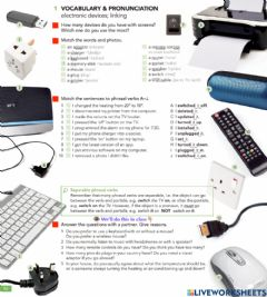 Interactive worksheet Electronic devices