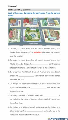Interactive worksheet Giving Directions - Imperatives Practice