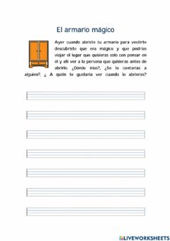 Interactive worksheet Escritura libre