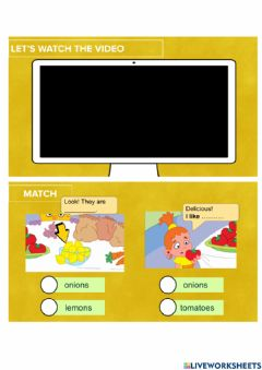Interactive worksheet Lunchtime- Do you like....?