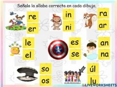 Interactive worksheet Sílabas inversas